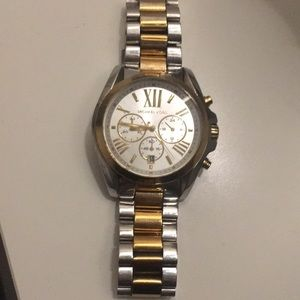 Authentic two tone Michael Kors oversized watch